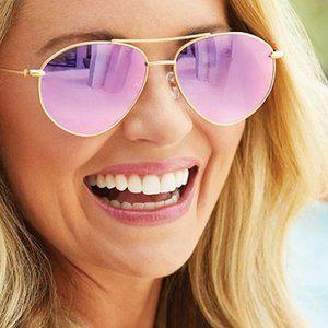 DIFF Carolina Aviator Sunglasses Cameran Eubanks
